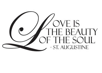 Love Is The Beauty Of The Soul Vinyl Wall Statement Vinyl Quote003