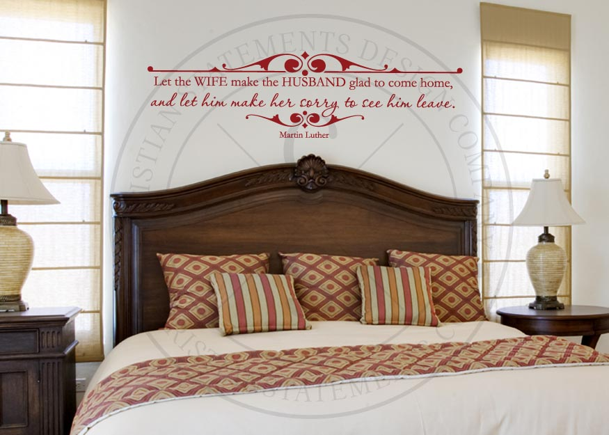Bedroom Colors For Husband And Wife husband and wife vinyl wall statement, vinyl, quote010