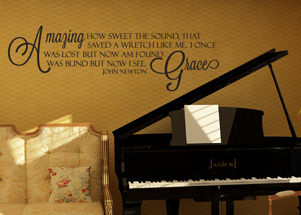 Amazing Grace Song Vinyl Wall Statement