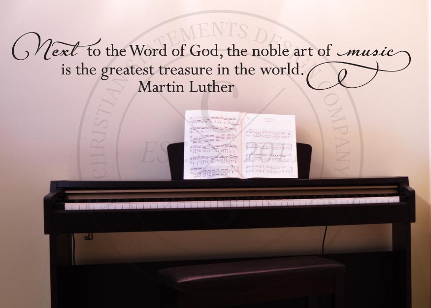 The Noble Art Of Music Vinyl Wall Statement, Vinyl, QUOTE015