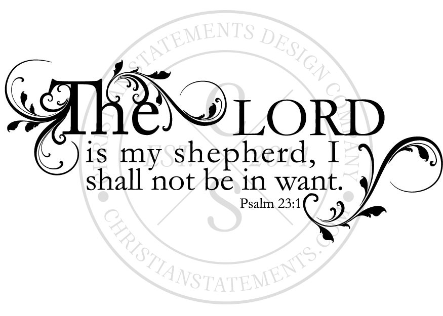 the lord is my shepherd i shall not want coloring page
