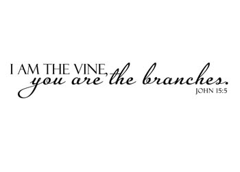 I Am The Vine You Are Branches Vinyl Wall Statement