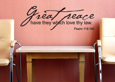 Great Peace Vinyl Wall Statement - Psalm 119:165