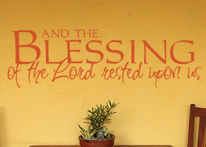 The Blessing of the Lord Vinyl Wall Statement