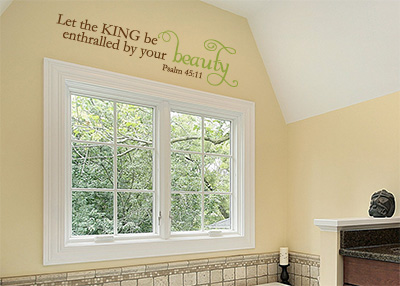 Let the King Be Enthralled Vinyl Wall Statement - Psalm 45:11