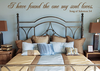 The One My Soul Loves Vinyl Wall Statement - Song of Solomon 3:4
