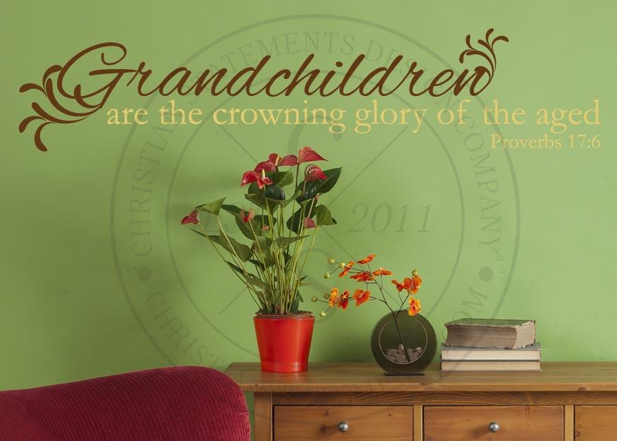 Grandchildren The Crowning Glory Vinyl Wall Statement