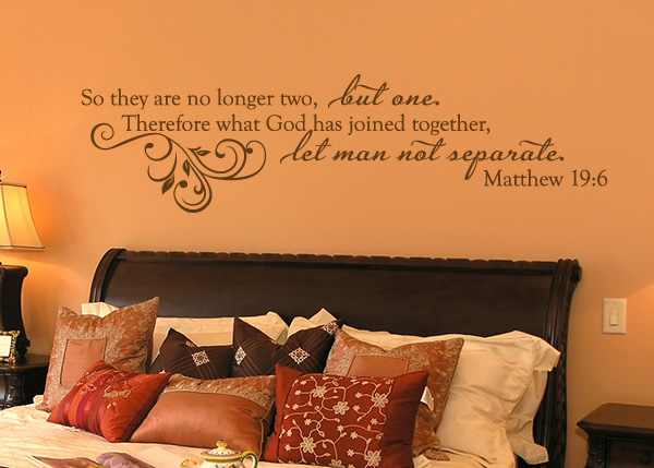 No Longer Two, but One Vinyl Wall Statement - Matthew 19:6