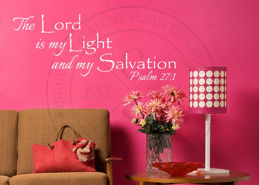 My Light and Salvation Vinyl Wall Statement - Psalm 27:1, Vinyl, SCR158