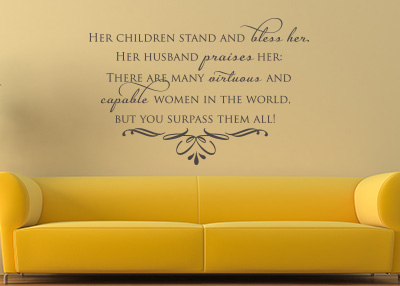 Her Children Stand Vinyl Wall Statement