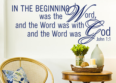 In the Beginning Vinyl Wall Statement - John 1:1