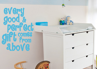 Every Good and Perfect Gift Vinyl Wall Statement
