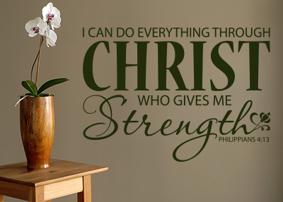 I Can Do Everything Vinyl Wall Statement - Philippians 4:13