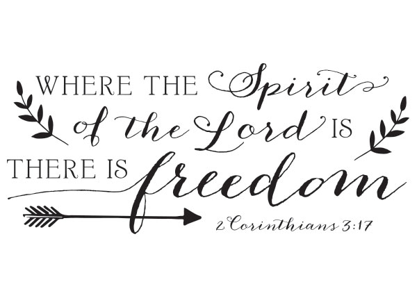 31a674a27d21 Where The Spirit Of The Lord Vinyl Wall Statement - 2 Corinthians 3 ...