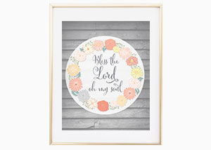 Bless the Lord Wood Panel Wall Print