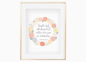 Trust in the Lord with All Your Heart Wall Print - Proverbs 3:5