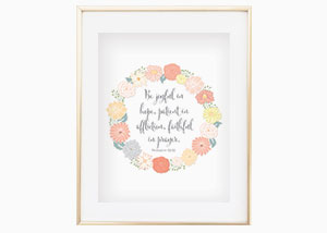 Be Joyful in Hope, Patient in Affliction Wall Print - Romans 12:15