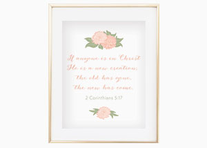 If Anyone Is in Christ He Is a New Creation Wall Print - 2 Corinthians 5:20