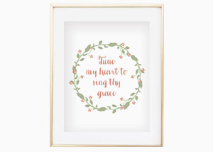 Tune Me Heart to See Sing Wall Print