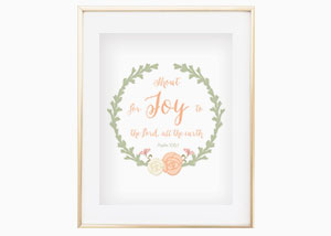 Shout for Joy to the LORD, All the Earth Wall Print - Psalm 100:4