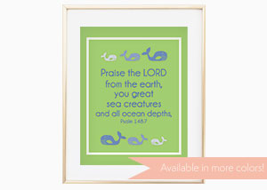 Praise the LORD from the Earth Wall Print - Psalm 148:10