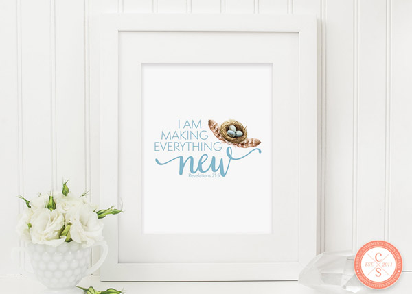 I Am Making Everything New Wall Print - Revelation 21:5