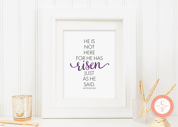 He Is Not Here Wall Print - Matthew 28:5